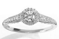White Gold Frame Ring. Vera Wang for Kohl's. $1,099.99