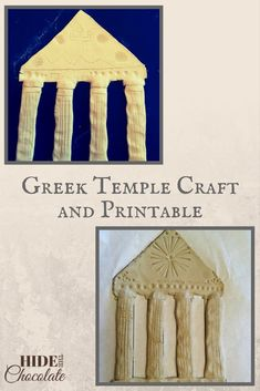 As we were studying Ancient Greek history, we found an easy and fun Greek temple craft. I say easy because I am not crafty. I like simple, and this was simple. Here are the very simple directions for a Greek temple craft with a printable. Ancient Greece Crafts, Ancient Greece Lessons, Greek History, Ancient History, European History, Ancient Aliens, Ancient Egypt, American History, Greek Crafts