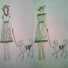 #fashion #moda #mode #style #stylist #green #dog #dogswear #designer #design #fashiondesign #fashiondesigner #illustration #fashionillustration #draw #drawing #hat