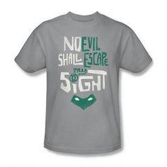 Green Lantern My Sight Adult Silver T-shirt