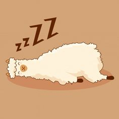Taking a nap can charge you up, so let your emotional support animals rest today! so they're charged up to help and assist you for the coming days! Alpacas, Lazy Animals, Cute Animals, Kawaii, Alpaca Cartoon, Llamas Animal, Animal Letters, Emotional Support Animal, Doodles