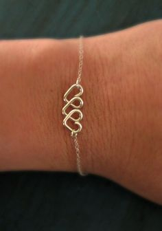 Infinite Love Bracelet Bridesmaid Gift Heart Infinity