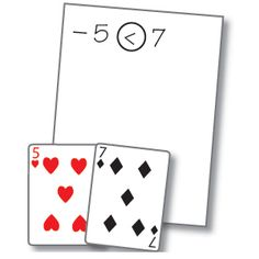 Positive Negative War Card Game  Deal all the cards facedown in  stacks to each player.  Players turn their top cards faceup;  Each player writes on paper the number values and circles the <> sign.  Red cards are negative numbers.  Black cards are positive numbers.  Jack is 11  Queen is 12  King is 13  Joker is 0  Ace is 1  Solve Problem using a number line.  First player to solve gets faceup cards  Continue until all cards have been taken.