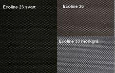 Ecoline 23 Svart /  Ecoline 26 / Ecoline 33 Mörkgrå  Från LC Möbler Ecoline 23 Black / Ecoline 26 / Ecoline 33 Dark Grey From LC Furniture