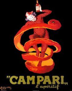 Campari Cappiello Orange Peel, 1950 - original vintage poster by Leonetto… Retro Poster, Poster Vintage, Vintage Travel Posters, Vintage Advertising Posters, Vintage Advertisements, Vintage Ads, French Vintage, Campari And Soda, Campari Cocktails