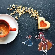✎ Little Coffee Stories collection by Cinzia Bolognesi #creativity #design