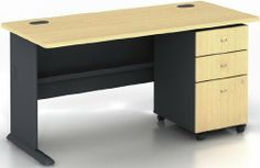 sturdy office desk. Interesting Office SERIES A BEECH A 003 SUITE BEECH By Bush Office Solutions  52386 Accepts Pencil Drawer Or Keyboard Shelf Desktop And Leg Grommets For Wire  Throughout Sturdy Desk R