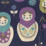 http://www.tissusenliberte.fr/kokka#Trefle Matryoshka bleu
