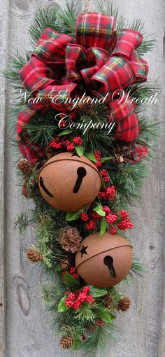 Christmas Wreath Christmas Swag Holiday Door by NewEnglandWreath, $139.00