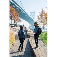 Denim twins at Race Street Pier adjacent to Benjamin Franklin Bridge on the Delaware River Philadelphia PA  ___________________________________#racestreetpier#benjaminfranklinbridge#philadelphia#philly#phillylove#phillyprimeshots#cityofbrotherlylove#city#urban#bridge#pier#igers_philly#denim#girls#friends#philadelphia_citylife#november#phillypulse#autumn#fujifeed#fujilfilmx_us#fujifilm_xseries#myfujifilm#visitphilly#phillygram#phillylife#outdoors#citylife