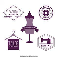 Emblemas loja de moda Vetor grátis Mais