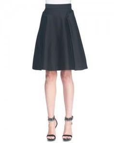 Alexander McQueen - A-Line Side Button Overlay Skirt // Empress of Style