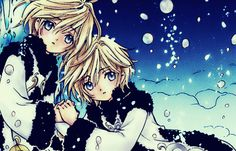 Yui and Fai from CLAMP's Tsubasa Reservoir Chronicle. Their story is horribly sad, even by CLAMP standards, and that's saying something.