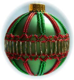 Free Bead Ornament Cover Instructions | Christmas Jewels Ornament Cover