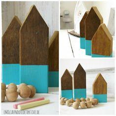Deko Holzhäuser Fürs Kinderzimmer. Kinder Holzhaus, Basteln Mit Holz ...