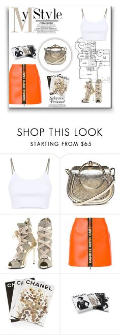 """""""Handle With Care"""" by ch-swisss ❤ liked on Polyvore featuring Alexander Wang, Chloé, Giuseppe Zanotti, Heron Preston, Assouline Publishing and Chanel"""