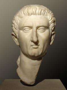 Emperor Nerva, head of Roman sculpture (marble), 1st century AD, (Palazzo Massimo alle Terme, Rome).