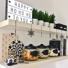 """happy HO HO HO ... all cookie jars are filled up for xmas and i looooove my little lightbox! #cornersofmyhome"""