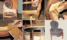 Réparer et tapisser un fauteuil de style
