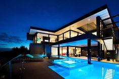 Amazing Dream Home In Black And Blue, Victoria, Australia | Archifan Blog