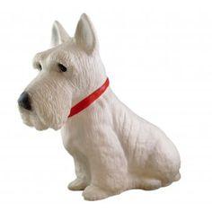 Scottie Dog Terrier White Table Lamp / Childrens Light