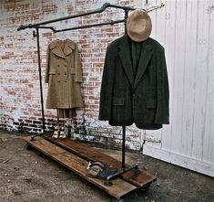 Industrial Rolling Garment Rack Possum Belly from Stella Bleu Designs, $589.00