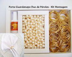 350 Porta Guardanapo Duo Pérolas 12mm