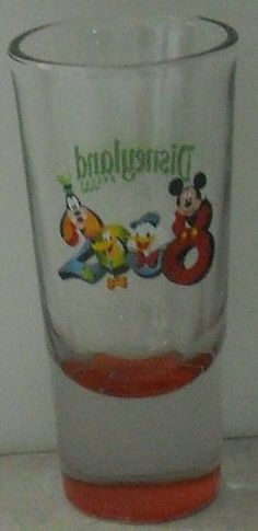 Disneyland 2008 Mickey Mouse Goofy Shot Glass Shooter Red Disney Shooter - This Item is for sale at LB General Store http://stores.ebay.com/LB-General-Store