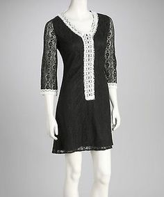 e30e5ef1a80 NWT! Black and White Vintage Retro Inspired Dress White Lace
