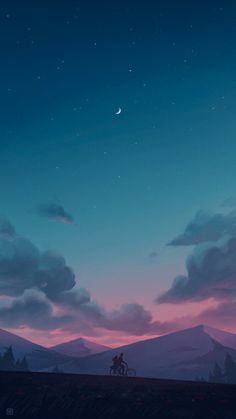 Calm night - My best wallpaper list Anime Scenery Wallpaper, Pastel Wallpaper, Cute Wallpaper Backgrounds, Pretty Wallpapers, Aesthetic Iphone Wallpaper, Galaxy Wallpaper, Nature Wallpaper, Cool Wallpaper, Aesthetic Wallpapers