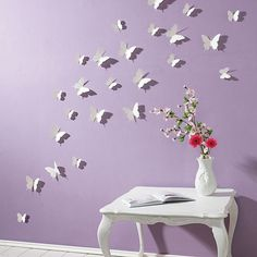 Butterfly Wall Stickers White Butterfly Decorations By On Etsy Part 63