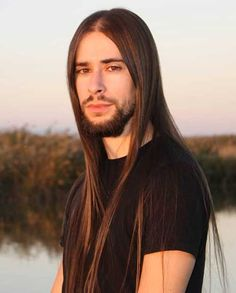60 Awesome Long Hairstyles For Men Gallery) - Hairmanz Long Thin Hair, Medium Long Hair, Long Hair Cuts, Long Hair Styles, Guy Haircuts Long, Straight Hairstyles, Mens Hairstyles With Beard, Hair Massage, Long Beards