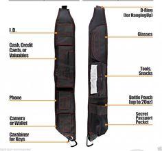 EDC Urban Tactical Ninja Minimalist Shoulder Sling Pack Bag Backpack Substitute #ShoulderMinimalistBag