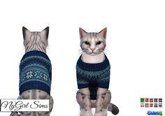 The Sims 4 Mody: Sweterek z dzianiny dla kota od NyGirl