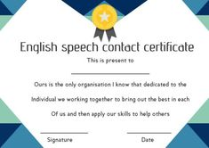 Taking asthetic aspects into count, we have designed and providing various varieties of Speech Contest Templates ranging from classic to modern. Find more professional design awards in this document for free. English Speech, Free Certificate Templates, School Template, We Have A Winner, Helping Others, Appreciation, Sumo, How To Apply, Military
