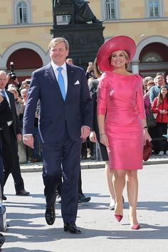 Royal Family Around the World: King Willem-Alexander And Queen Maxima Of The Netherlands Visit Bavaria - Day 1 on April 13, 2016 in Munich, Germany