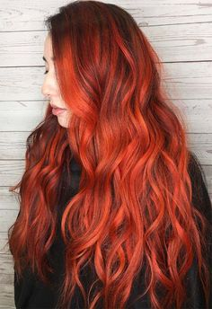 63 Hot Red Hair Color Shades to Dye for: Red Hair Dye Tips & Ideas - 63 Hot Red Hair Color Shades to Dye for: Red Hair Dye Tips & Ideas - Warm Red Hair, Bright Red Hair, Red Hair Color, Hair Colors, Dyed Tips, Hair Dye Tips, Dyed Red Hair, Dyed Hair Pastel, Dye Hair