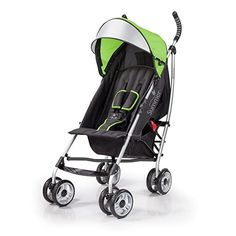 Summer 3Dlite Convenience Stroller, Green – Lightweight Stroller with Aluminum Frame, Large Seat Area, 4 Position Recline, Extra Large Storage Basket – Infant Stroller for Travel and More : Baby Travel Stroller, Stroller Cover, Best Baby Cribs, Baby Jogger City Select, Best Baby Strollers, Best Umbrella, Baby Playpen, Umbrella Stroller, Large Storage Baskets