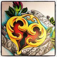 Heart tattoo design by jerrrroen