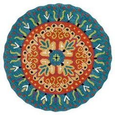 Add a pop of style to your d�cor with this eye-catching rug, perfect for your living room, home office, or master suite.   Product: RugConstruction Material: 100% WoolColor: Coral and tealFeatures: Hand-tuftedMade in IndiaDimensions: 3 RoundNote: Please be aware that actual colors may vary from those shown on your screen. Accent rugs may also not show the entire pattern that the corresponding area rugs have.Cleaning and Care: Clean spills immediately by blotting with a clean sponge or clo