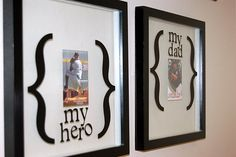 Daddy picture frames