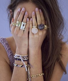 1970S STYLE: A selection of chunky rings from D-Luxe Jewellery.