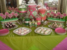 Candy Buffet » Pink Green Candy Buffet
