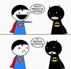 Frases, chistes, anécdotas, reflexiones, Amor y mucho más.: Chistes de superheroes. Las debilidades de Batman y Superman.