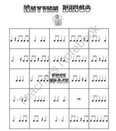 Rhythm Bingo from Music and Technology on TeachersNotebook.com (31 pages)