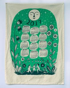 2017 Calendar Wall Hanging PRE-ORDER by PhoebeWahl on Etsy