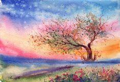 Watercolor Painting Landscape Hd