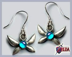 Zelda Navi Earrings  Real Silver by Curaja on Etsy. , via Etsy.