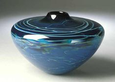 Blue Cloud Vase No.3 by Mike Wallace: Art Glass Vase available at www.artfulhome.com