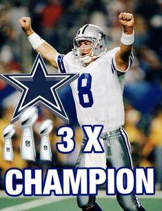 Dallas Cowboys Football, Football Helmets, Troy Aikman, Good Ol, Champion, Baseball Cards, Happy Birthday, Sports, Happy Brithday